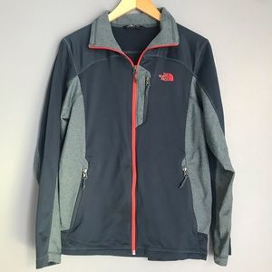 The North Face Blue Gray Panel Zipper Jacket